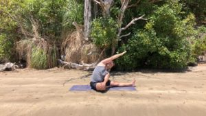 Stretch at the Beach