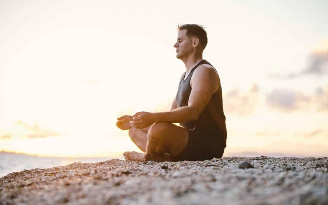Tim Seutter on the beach